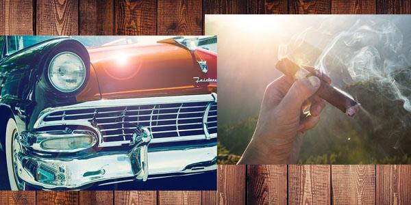 Auto und Zigarre