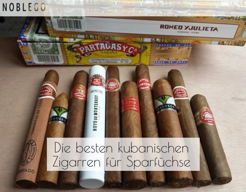 Die besten kubanischen Zigarren für Sparfüchse
