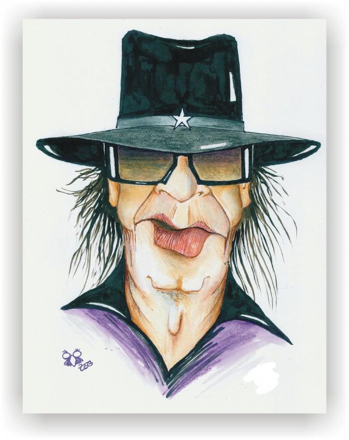 Udo Lindenberg gezeichnet