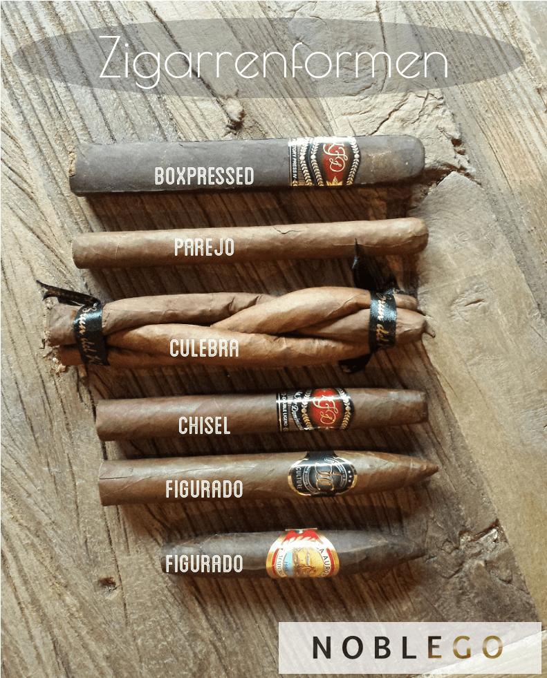 Zigarrenformen erklärt - Parejo, Culebra, Figurado, Cisel, Boxpressed