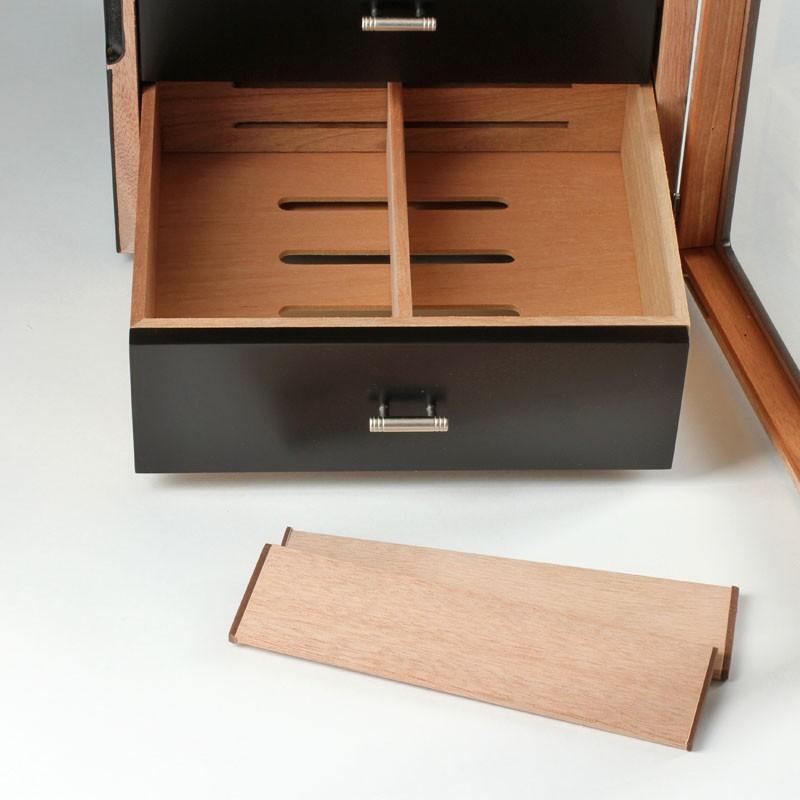 exclusive humidor schrank schwarz acryl bei noblego kaufen. Black Bedroom Furniture Sets. Home Design Ideas