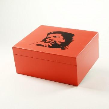 """Humidor """"Che"""" Rot Matt für 40 Zigarren"""