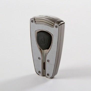 Tonino Lamborghini Forza Silver Carbon Fiber Torch Flame Lighter