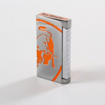 Tonino Lamborghini Il Toro Orange Torch Flame Lighter