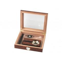 Humidor-Set mit Glasdeckel für 15 Zigarren