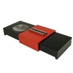 Humidor mit Ascher schwarz/rot