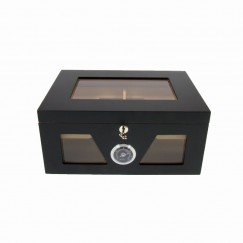 Exclusive Humidor Schwarz mit Glasdeckel
