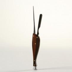 Angelo Pfeifenbesteck Delphin Holz-Metall