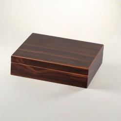 Basic Humidor Walnuss Dekor für 20 Zigarren (dunkel)