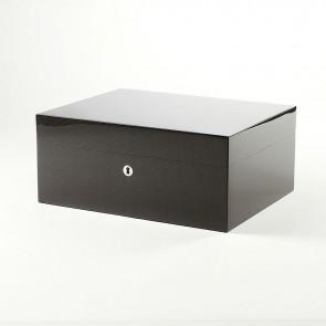 Gentili Humidor Carbon-Optik für 50 Zigarren