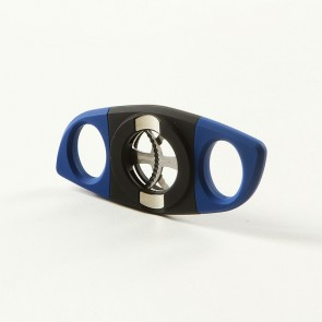 Passatore Zigarrenabschneider Kunststoff Blau Chrom mit Ablage