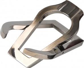Taschen-Pfeifenständer chrom poliert in Lederoptiketui