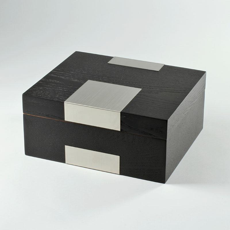 Basic Humidor Echtholzfurnier schwarz