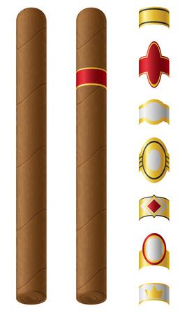 Verschiedene Formen von Zigarrenringen
