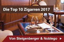 Noblego und Steigenberger küren die Top 10 Zigarren 2017