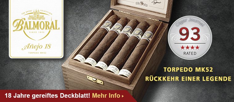 Balmoral Anejo 18 - 93 Punkte von Cigar Journal