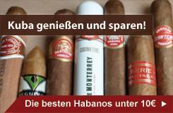 Die besten kubanischen Zigarren unter 10 Euro