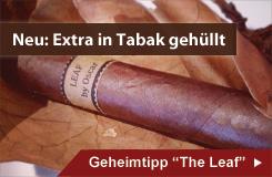 The Leaf Zigarre mit Extra-Tabakblatt